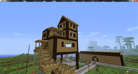 first house my first house project minecraft project