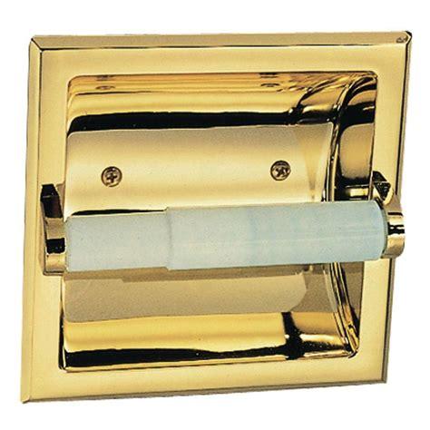 design house millbridge recessed toilet paper holder  polished brass   home depot