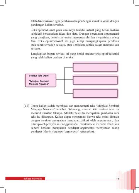 membuat teks opini editorial bahasa indonesia kelas xii smt 2 k13