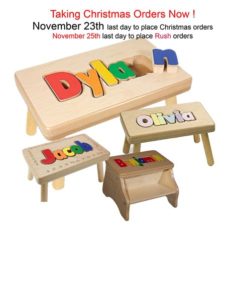 Puzzle Step Stools by Personalized Name Puzzle Personalized Gifts Kid S