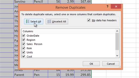excel tutorial remove duplicates how to find and delete duplicate entries in excel 2007