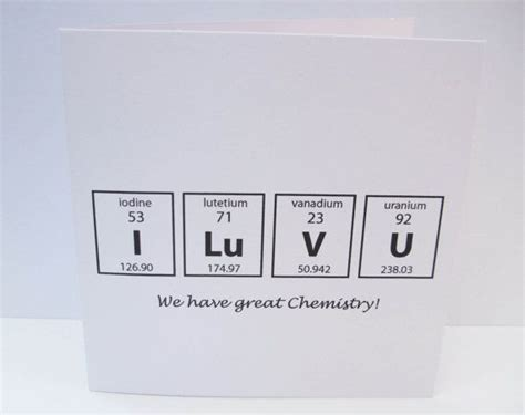 printable periodic table science geek valentine s day card we have great chemistry card for