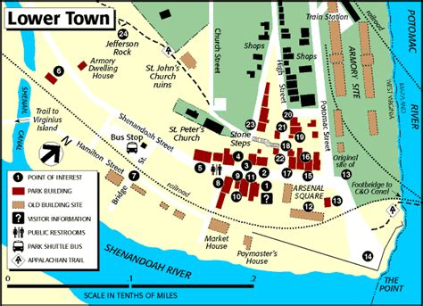 On The Town Nation by Map And Guide To The Lower Town Harpers Ferry National