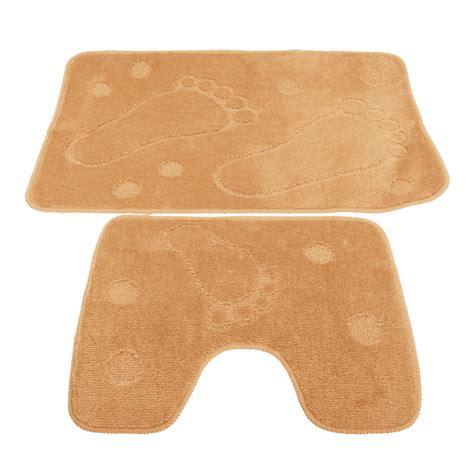 footprint rug 2 footprint design bathroom bath mat and pedestal rug set ebay