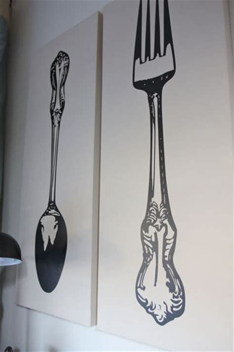 wall decor spoon and fork fork and spoon wall decor vinyl decals large silverware