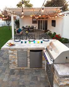 Custom System Pavers built in barbecue #bbq #grill #