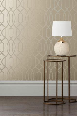 gold wallpaper next buy chagne surface print lattice geo wallpaper from the