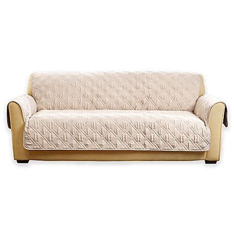 cream sofa cover buy sure fit 174 deluxe non skid waterproof sofa cover in