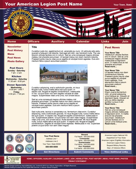 List Of Synonyms And Antonyms Of The Word Patriotic Templates American Legion Newsletter Template