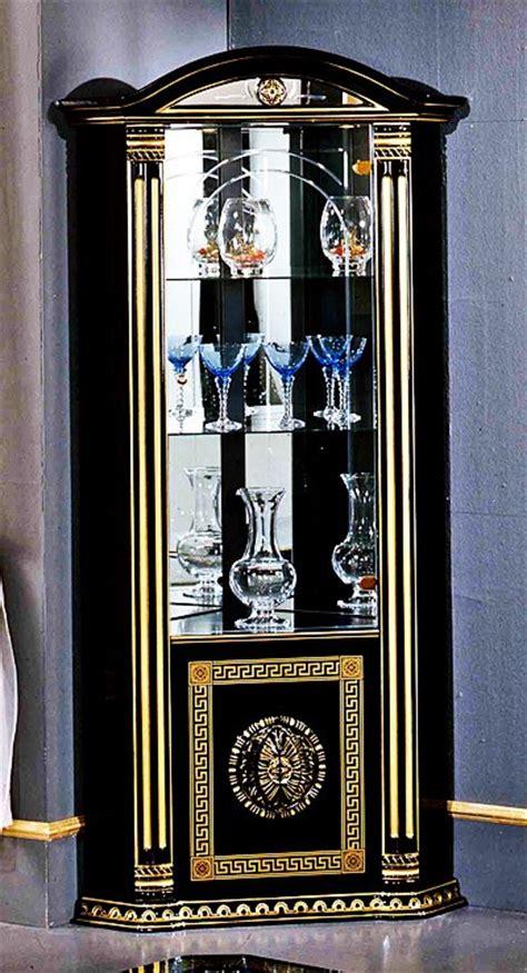 black corner china cabinet rossella italian classic black corner china cabinet