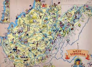 Virginia Tourism Map by Large Tourist Illustrated Map Of West Virginia West