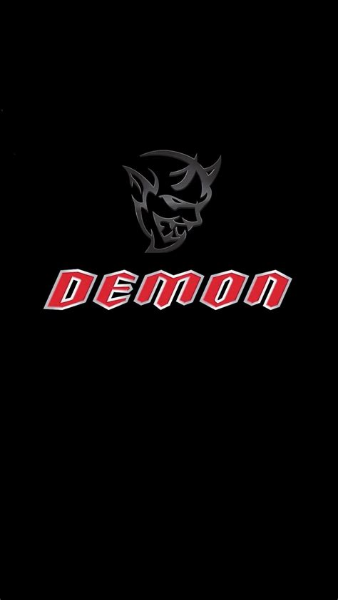 dodge demon logo iphone wallpaper iphonewallpapers