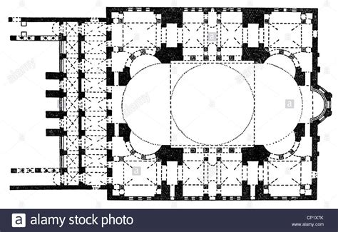 floor plan of hagia architecture ground plans hagia istanbul built 532 537 stock photo royalty free