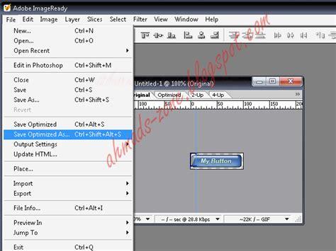 format file animasi membuat tombol gif animasi dengan photoshop dan imageready