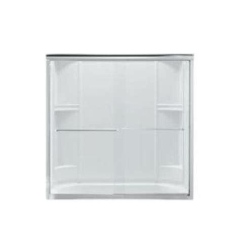 sterling bathtub doors sterling finesse 59 5 8 in x 55 3 4 in frameless sliding