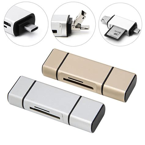 I Flash Drive 3 In 1 Otg Micro Usb Lightning 16gb 3 in 1 otg micro ᗑ usb usb type c flash drive drive adapter connector tf sd card reader us542