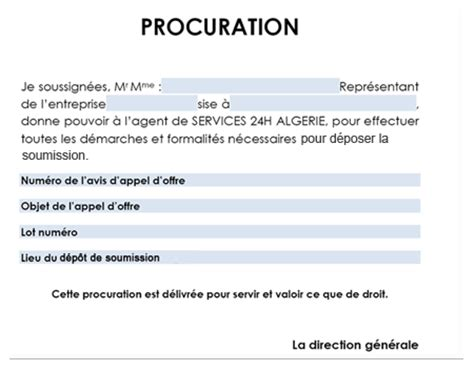 Exemple De Lettre De Procuration Pour Recuperer Un Colis Modele Procuration Pour Recuperer Un Colis Document