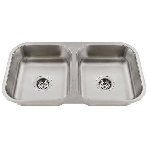 kitchen sinks direct mr direct undermount stainless steel 18 in 50 50 double