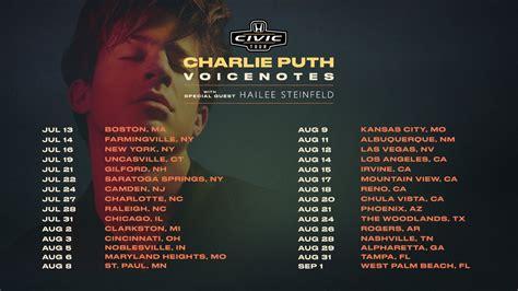 charlie puth voicenotes tour charlie puth the voicenotes tour a ap chels