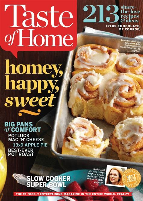 taste of home magazine sale 6 25 for 1 year subscription