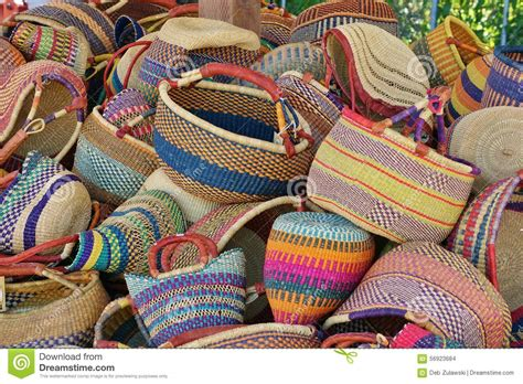 colorful baskets pile of colorful traditional woven baskets