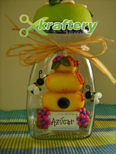 decoracion de frascos de vidrio con porcelana fria kraftery handmade azucarera