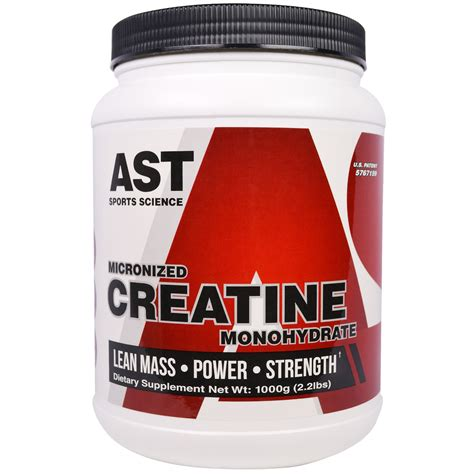creatine 5 lbs ast sports science micronized creatine monohydrate 2 2