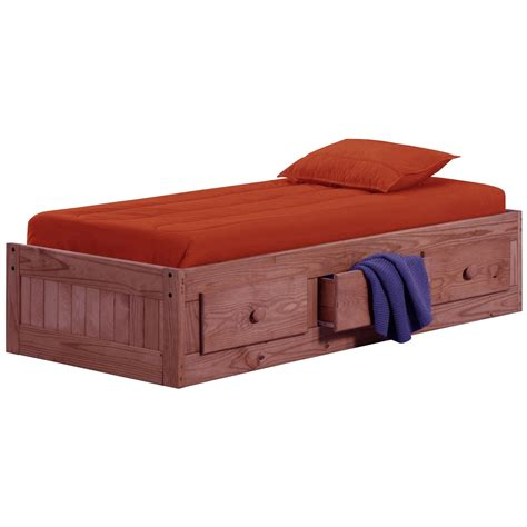 box bed twin box bed under bed storage mahogany finish dcg stores