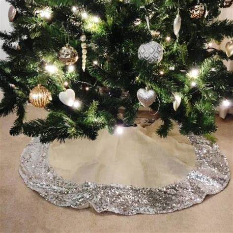 best tree skirts wicker willow and silver