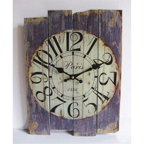 vintage shabby chic home decor retro vintage silent no ticking wall clock shabby chic