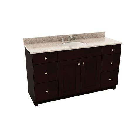 Silestone Bathroom Vanity American Woodmark Reading 61 In Vanity In Espresso With Silestone Quartz Vanity Top In Alpina