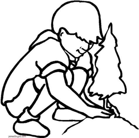 Imagenes Niños Sembrando Plantas | dibujos para colorear ni 241 os sembrando plantas ideas