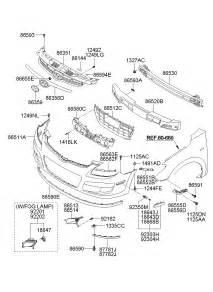 Hyundai Elantra Parts List 2012 Hyundai Elantra Front Bumper