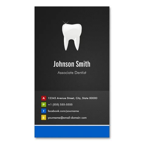 business cards sided template associate dentist dental creative innovative