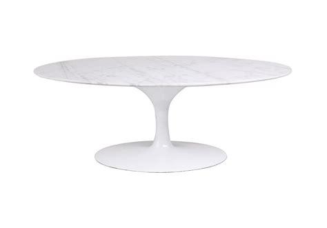 saarinen table basse oval de marbre knoll milia shop