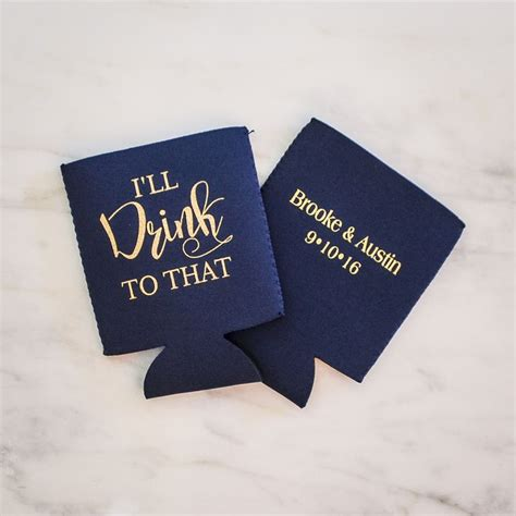 Wedding Koozies by 25 Best Ideas About Wedding Koozies On