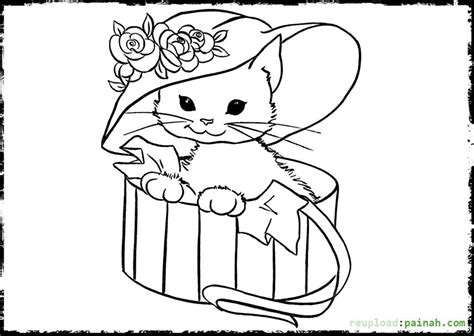 cute kitten printable coloring pages az coloring pages