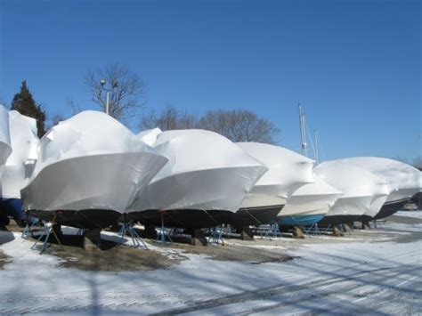 boat shrink wrap winter local marinas use shrink wrap to cover boats stored