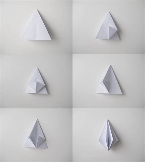 Folding Paper Shapes - paper diamonds design and form