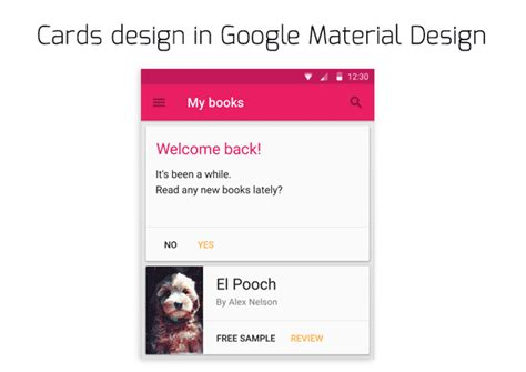 Google Design Cards | better ux google material design guides android app