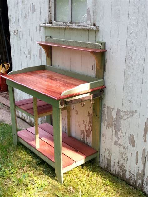 potting bench from pallets diy pallet and maple potting bench pallet furniture plans