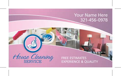 residential house cleaning business card sles