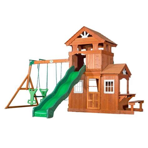 wooden playsets wooden swing sets wooden play houses