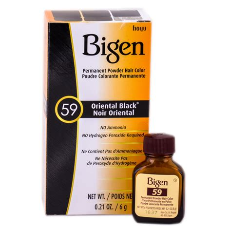 bigen hair color bigen permanent powder haircolor black 59