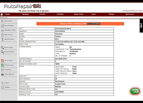 repair shop invoice auto shop receipt mechanic invoice template free