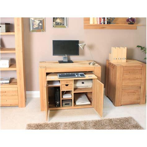 atlas solid chunky oak furniture home office pc