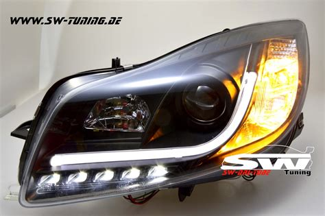 led len kaufen günstig sw drltube headlights opel insignia 08 13 black with led
