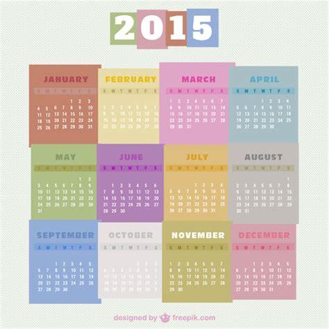 grafik design kalender 2015 bunten kalender 2015 kostenlos vektor download der