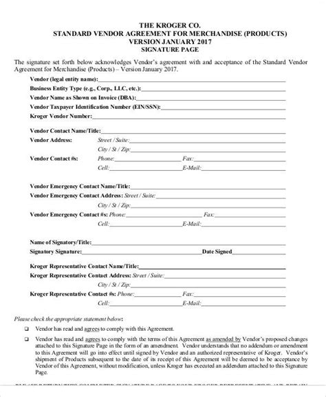 letter of intent business agreement sle sle vendor contract letter business agreement
