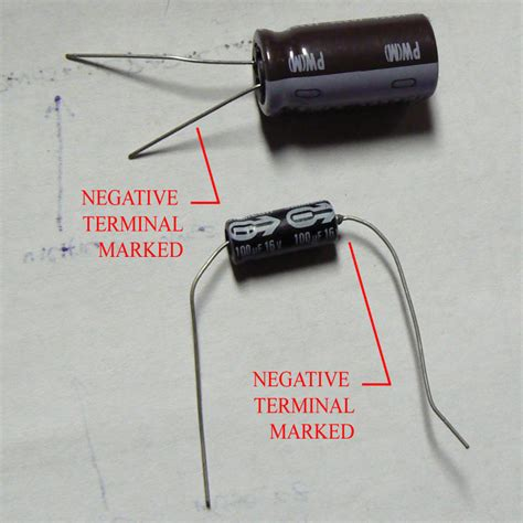 capacitor polarity electrolytic capacitor identify polarity 28 images electronics repairing and learning